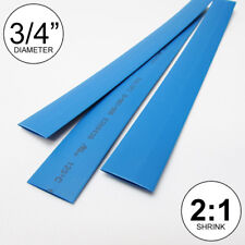 """(2 FEET) 3/4"""" Blue Heat Shrink Tubing 2:1 Ratio Wrap inch/foot/ft/to 0.75"""" 20mm"""