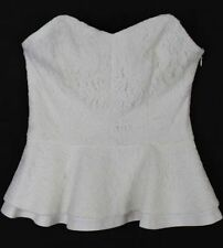 Peplum Solid Regular Strapless Sleeve Tops & Blouses for Women