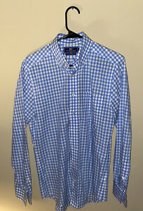 Vineyard Vines Slim Fit Tucker Shirt Blue Plaid *SMALL