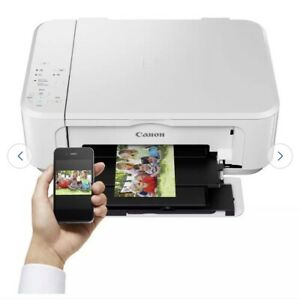 New All in One Printer Scan Copy📑- Canon PIXMA MG3650S White- with Ink 🖋