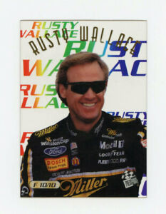 Rusty Wallace 1996 Press Pass Focused Clear Acetate Insert 1:72 Packs Plastic