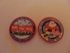 CHALLENGE COIN CERAMIC CHIP TOYS FOR TOTS FOUNDATION SINCE 1948 CHRISTMAS CHILD