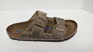 Birkenstock Arizona Slide Sandals, Tobacco Brown, Men's 11 (EU 44) Narrow