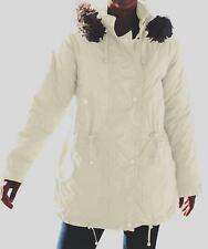 WOMAN WITHIN FAUX FUR COLLAR TASLON ANORAK PARKA JACKET COAT PLUS 2X 26/28 *NIP*
