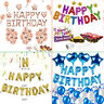HAPPY BIRTHDAY SELF INFLATING BALLOON BANNER BUNTING PARTY DECORATION UK