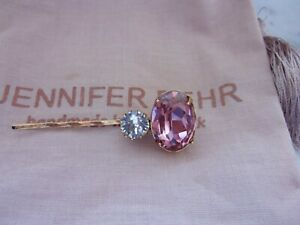 New Jennifer Behr Antique Rose Swarovski Crystal Gemma Hair Bobby Pin W/ Bag