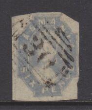 Australian States - TASMANIA - Queen Victoria  - 1860 - 6d Grey - used - SG44
