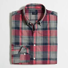J crew Shirt size Small Red, Navy and Grey Plaid Brand New With Tags
