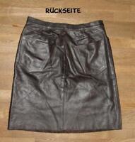 "kurzer "" MAX & Co. "" LEDERROCK / Rock / Minirock im Jeans- Style in braun Gr. 36"