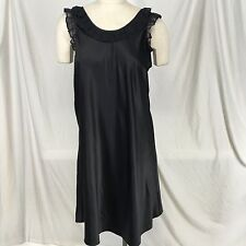 CABERNET Silky Black Nylon Nightgown Dressing Gown Lingerie size Medium