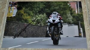 """Michael Dunlop Signed 12"""" x 8"""" Colour Photo Isle Of Man TT Comes With COA"""