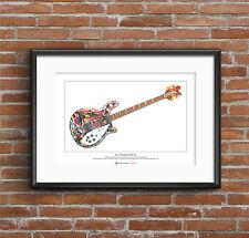 Mani's Rickenbacker 4005 Bass Limited Edition Fine Art Print A3 size