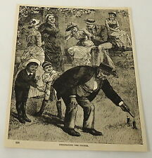 1884 magazine engraving ~ Celebrating The Fourth of July, - Independence day