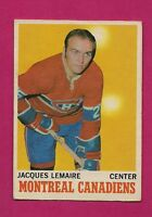 1970-71 OPC  # 57 CANADIENS JACQUES LEMAIRE EX+ CARD (INV#3943)