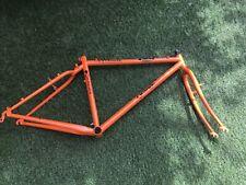 Orange Clockwork Frame And Fork MTB Retro Steel Classic