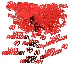 40th Wedding Anniversary Confetti Ruby Red Party Table Sparkle Decorations 14g 1 Pack