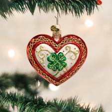"Old World Christmas ""Lucky in Love"" Glass Ornament *Free Shipping*"