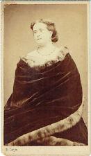 Photo cdv : E.Carjat ; Madame de Magnien , Femme du monde , vers 1865