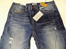 MUDD DESTRUCTED LOW RISE SKINNY STRETCH JEANS JR SZ 15 SHORT NWT