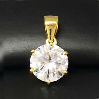 2 Ct Round Solitaire Diamond Pendant Charm 14k Yellow Gold Over Labor Day Sale