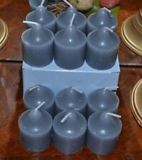 Partylite 1 Dozen Silver Birch Bark Votives New Candles, 40% Discount
