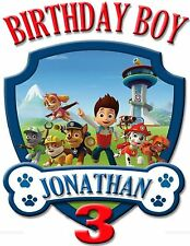 NEW PERSONALIZED CUSTOM PAW PATROL BIRTHDAY SHIRT ADD NAME & AGE FOR FAMILY