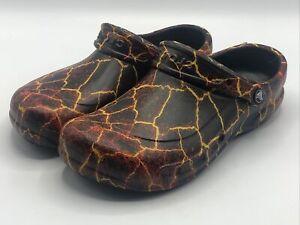 Crocs Bistro Graphic Colors Clog Black Flame Men's Size 9 - Brand New!