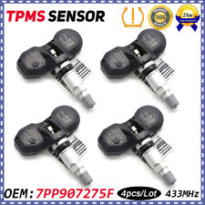 4pc 7PP907275F TPMS Tire Pressure Sensor 433MHZ For Audi A4 A6 A8 Q7 R8 VW