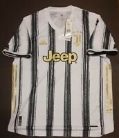 New Adidas Juventus Jersey Mens Size XL 2020 2021 Soccer Home Jeep White Gold