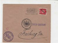 Germany 1926 Wiesbaden Automobil Slogan Cancel Official Stamps Cover ref 22932
