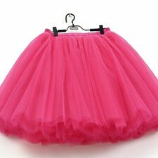 7 Layers Midi Tulle Tutu Skirt Women Ball Gown Party Style Candy Color