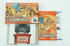 Pokemon Fire Red Adapter GBA Nintendo Gameboy Advance Box From Japan