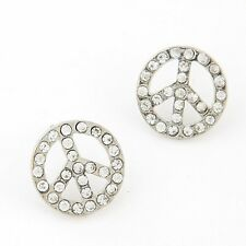 2pair New fashion jewelry accessories small Rhinestones stud earrings best gift