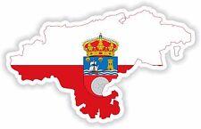 STICKER silueta Cantabria España Mapa Bandera Para Tablet Parachoques Locker