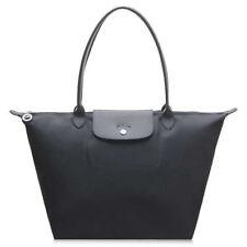 """Original Longchamp Tote Le Pliage NÉO Schwarz Nylon """"Sac shopping"""" Tasche Gr. L"""