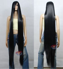 Extra Long Black Cosplay Wig High Temp Cosplay Party Convention Cos Wigs 150CM