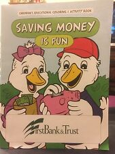 """Children's Educational Coloring & Activity Book """"First Bank & Trust"""" Ages 3+"""