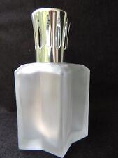 Jolie Lampe Berger en verre dépoli / Givré - forme étoile moderne.