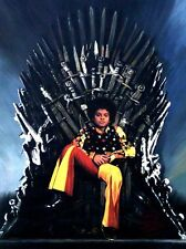 "SUPERB ORIGINAL ZEN O'CONOR ""Young Michael Jackson"" IRON THRONE SERIES PAINTING"