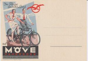 Postcard Bicycle Advertisement Möve Bicycles Mühlhausen