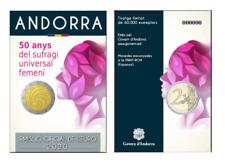 2 Euros Commémorative Andorre Andorra 2020 BU Sommet Suffrage Universel BU