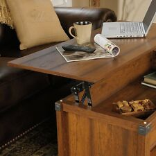 NEW Sauder Lift Top Convertible Coffee Table Milled Cherry Wood Desk End Storage