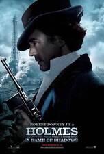 SHERLOCK HOLMES A GAME OF SHADOWS Movie Promo POSTER D Robert Downey Jr.