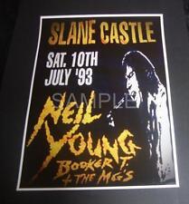 Neil Young concert poster Slane Castle Ireland 1993 A3 Size reproduction