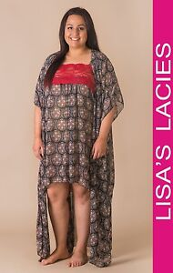 Lisa's Lacies - Scarlet Kimono Nightgown Plus Size - Sizes 16-34