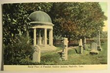 Nashville TN Pres Andrew Jackson's Burial Place at Hermitage Postcard ca1910