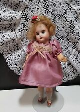 Gorgeous Antique German Doll-Bisque Head, Glass Eyes, Mache Body-SEE!