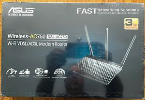 Router ASUS ADSL VDSL Wireless DSL-AC750 Wifi
