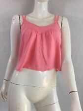 HOLLISTER PINK CROPPED VEST TOP SIZE SMALL UK 8 - 10 ? MINT CON