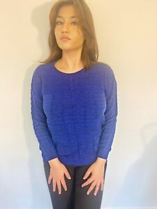 Women's Blue Knitted Cable Jumper FREE DELIVERY